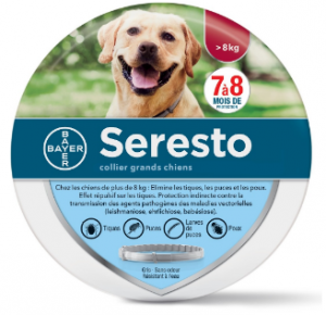 collier anti parasitaire chien
